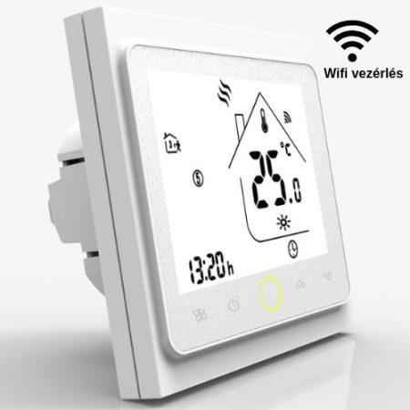 BECA wifi fehér padlószenzoros termosztát
