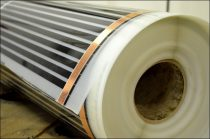 Infra Fűtőfilm 65W/méter 130W/nm