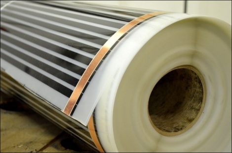 Infra Fűtőfilm 40W/méter 80W/nm